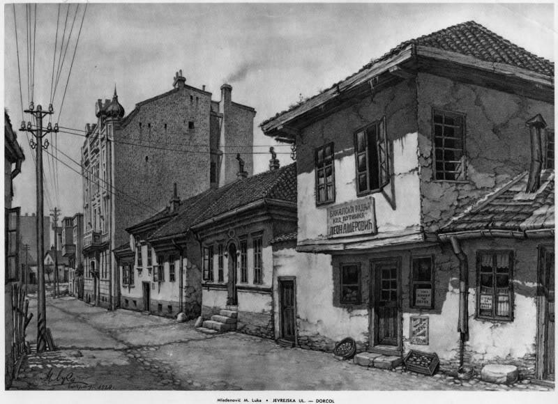 Stari Beograd u očima umetnika Jevrejskaulica-Dorcol1600x1200