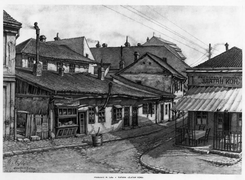 Stari Beograd u očima umetnika KafanaZlatanKonj1600x1200