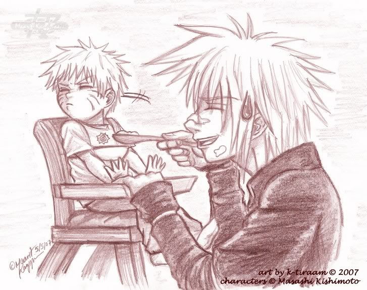 Imágenes de Naruto AU__Difficult_Lunch_time_by_k_tiraa