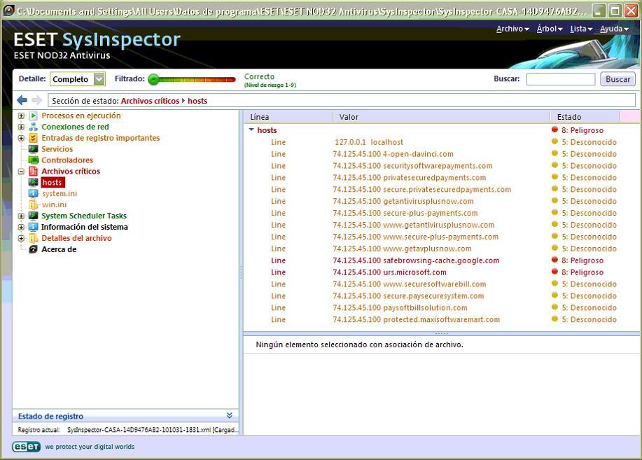 Tutorial de análisis del PC con SysInspector de ESET Carlos_01
