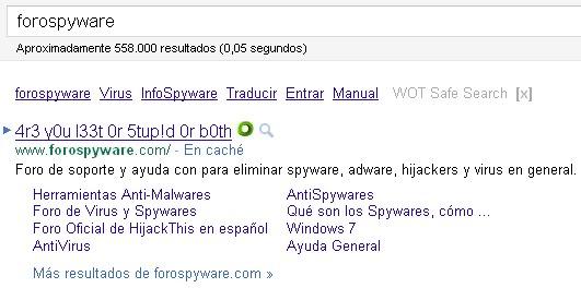 Modificaciones ajenas en el server de Forospyware 1