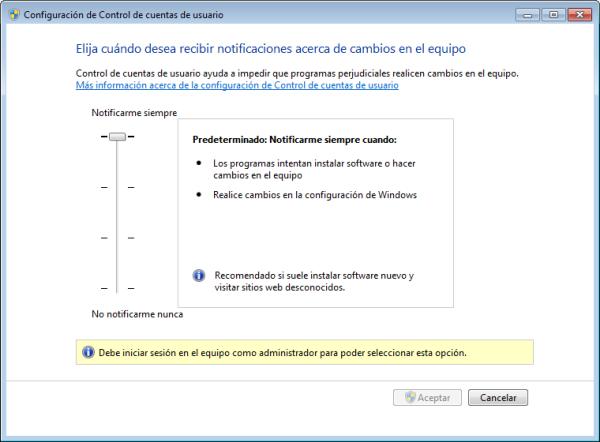 UAC: Funcionalidades y amenazas  Config2