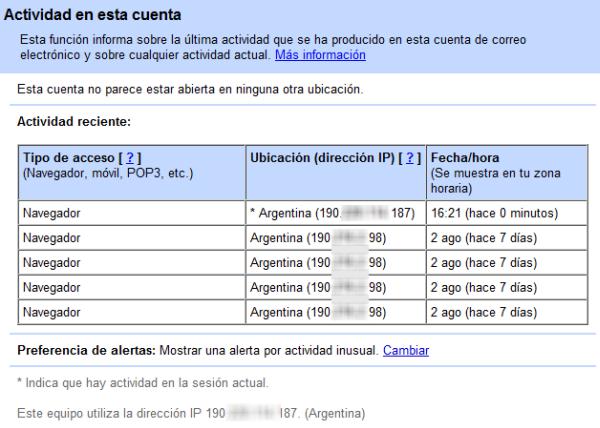 ¿Cómo detectar intrusos en Gmail?  IMG_Activity