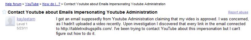YouTube y el video del spam  SPAM-victima