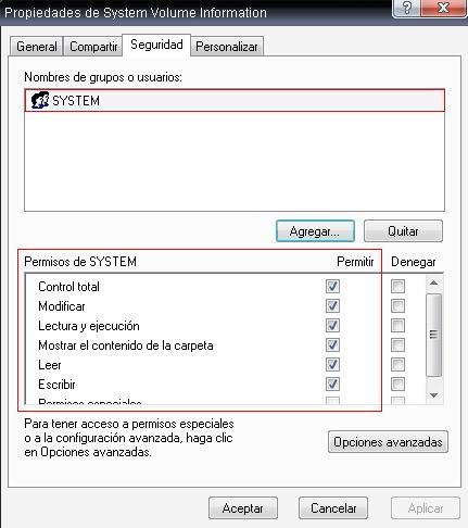 """Ver el contenido de la carpeta """"System Volume Information""""  Armad7"""