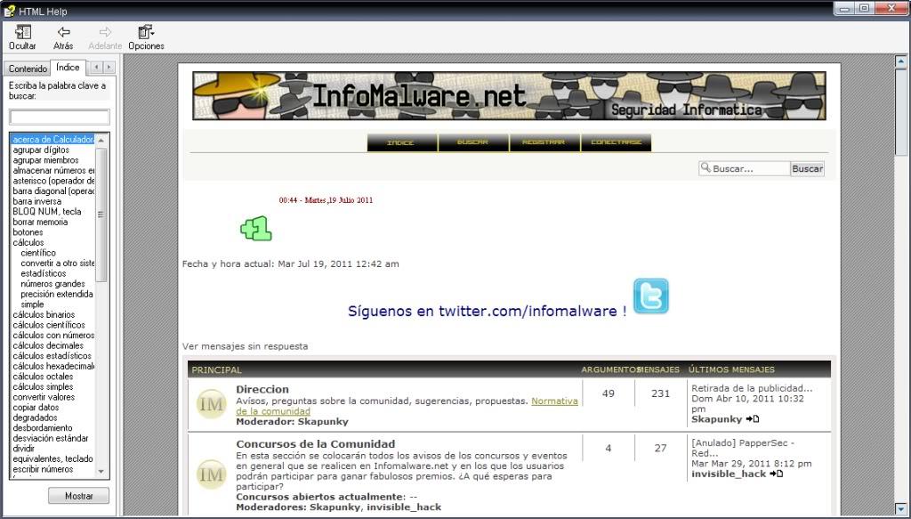Acceder a Internet desde la calculadora de Windows (Casos extremos) Calc4