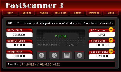 Buscando malware en el P2P: Open.exe File016