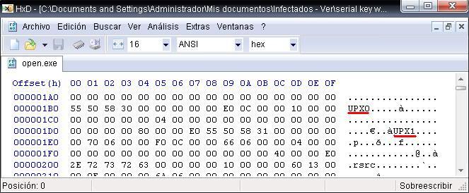 Buscando malware en el P2P: Open.exe File3