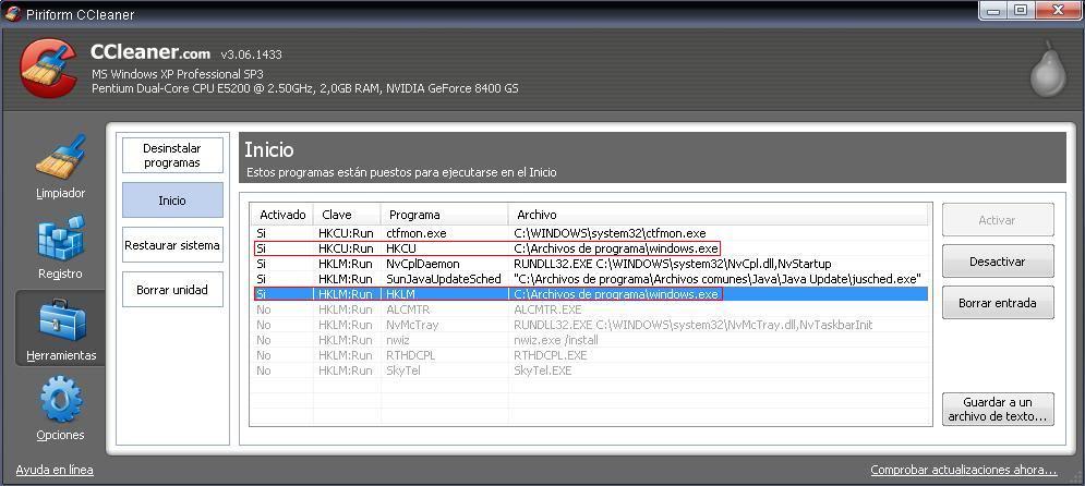 Buscando malware en el P2P: Open.exe File4