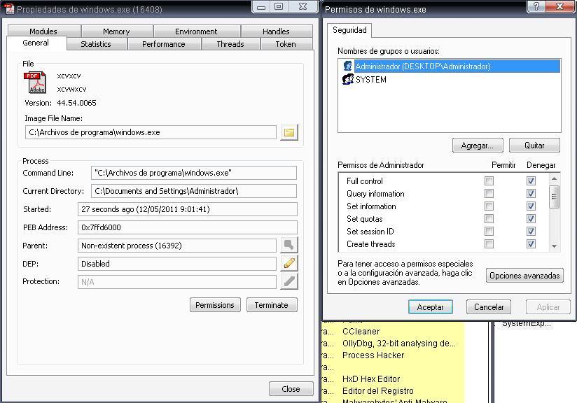 Buscando malware en el P2P: Open.exe File8