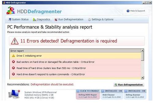 Aparece un desfragmentador falso que esconde los archivos de los usuarios para asustarlos Hdddefragmenter