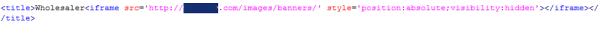 Inyección masiva de iframes a sitios de e-commerce  IFrame1