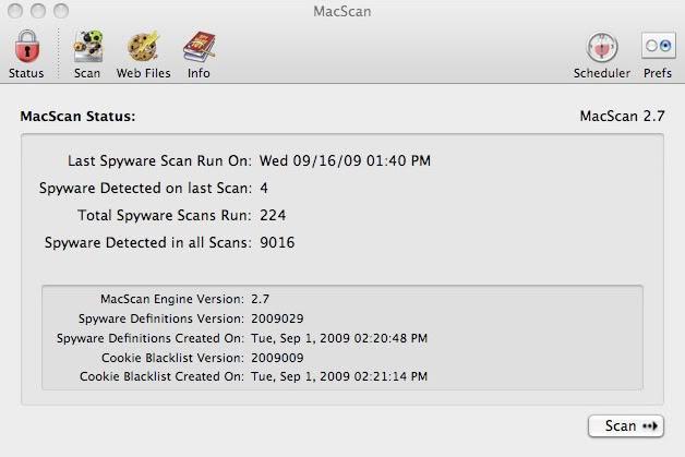 Antivirus para MAC OS X Macscan