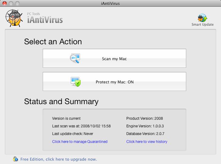 Antivirus para MAC OS X Main