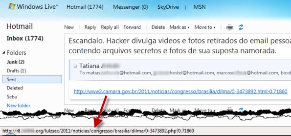 La presidenta de Brasil, utilizada para propagar malware Malware-brasil2