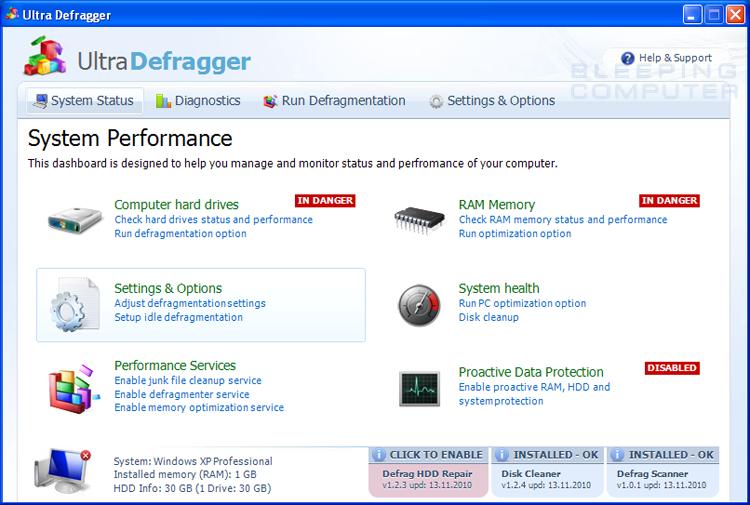 Aparece un desfragmentador falso que esconde los archivos de los usuarios para asustarlos Ultra-defragger