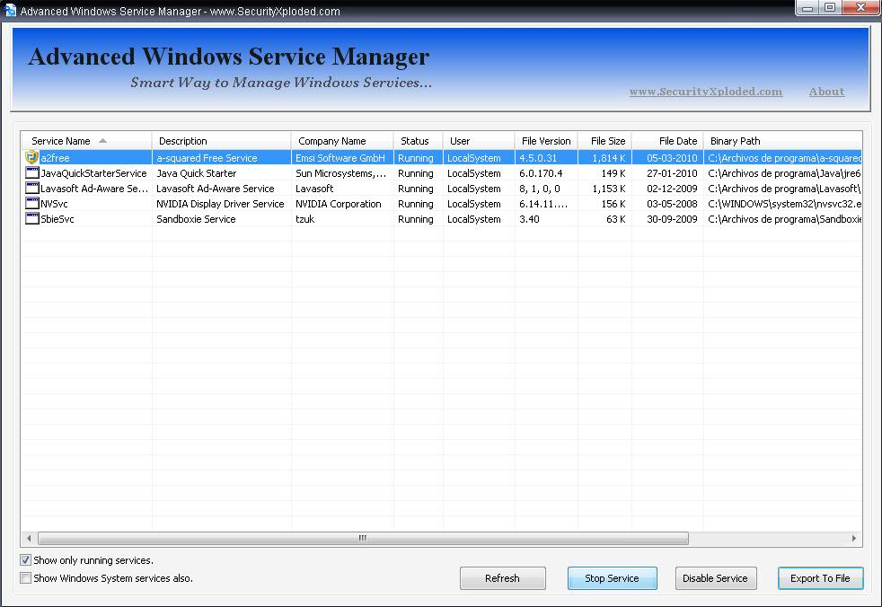 Advanced Windows Service Manager Awsm1