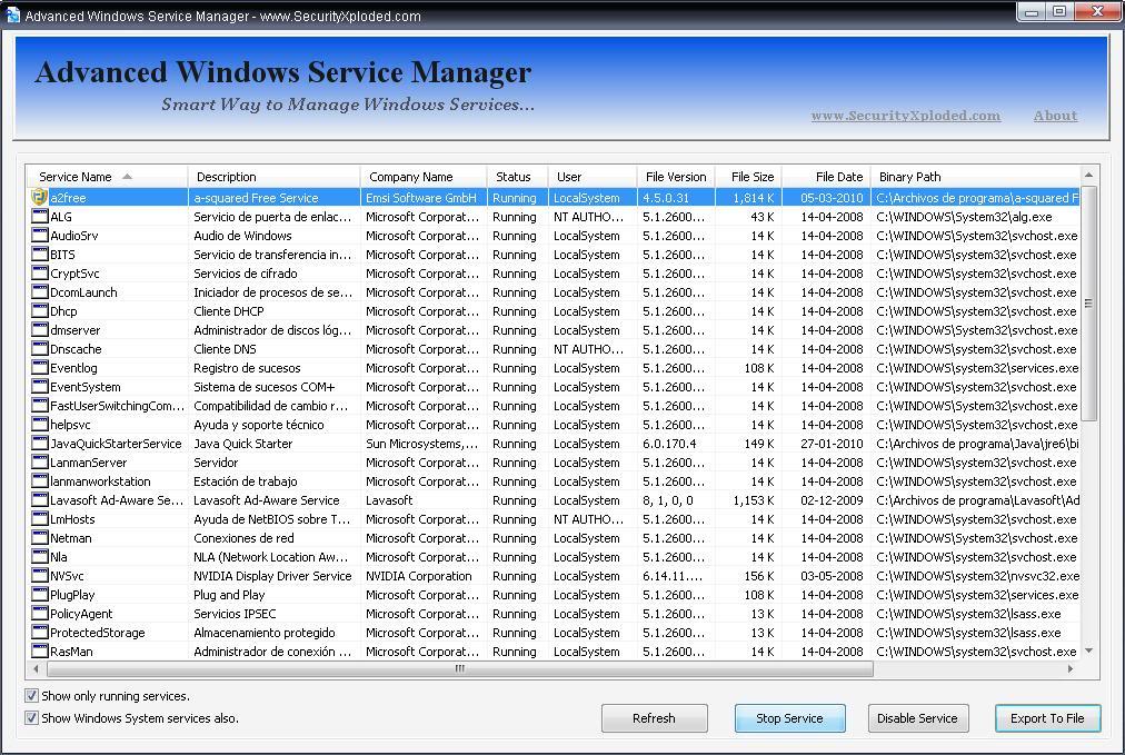 Advanced Windows Service Manager Awsm2