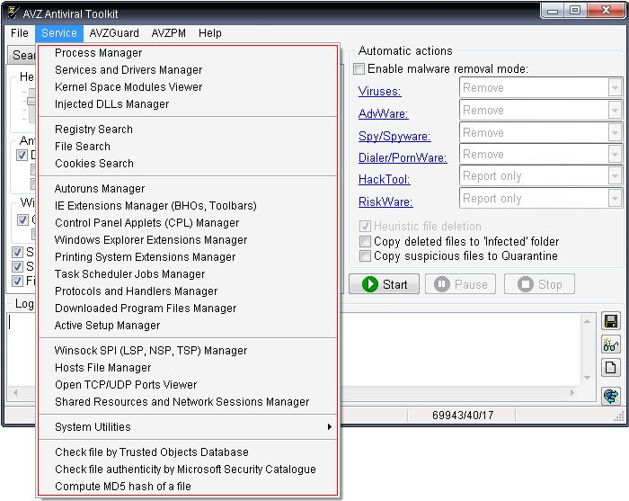 Tutorial de análisis de sistemas con AVZ Antiviral Toolkit de Kaspersky Avz009