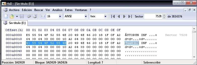 """Bloquear el """"autorun.inf"""" en unidades USB  Autorun1"""
