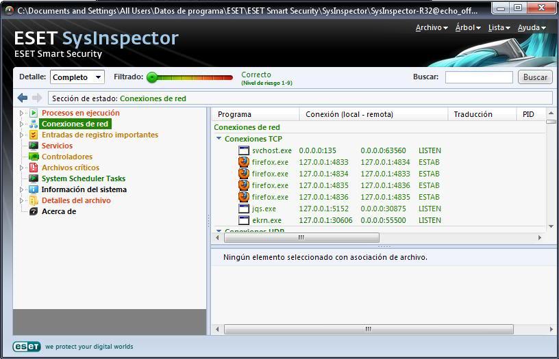 Tutorial de análisis del PC con SysInspector de ESET Eset2