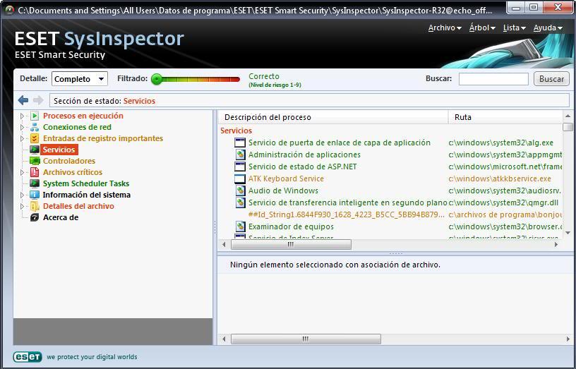Tutorial de análisis del PC con SysInspector de ESET Eset4