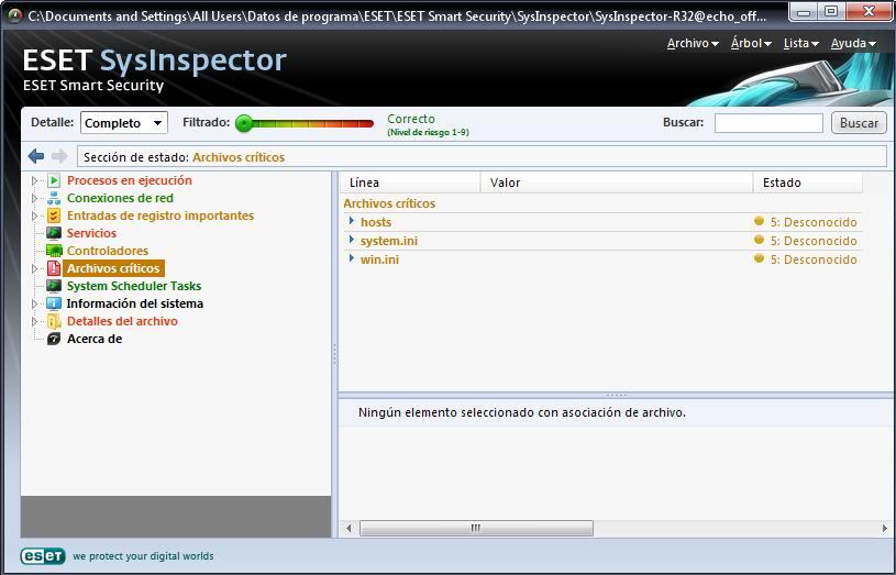 Tutorial de análisis del PC con SysInspector de ESET Eset6