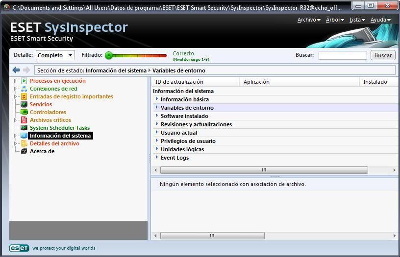 Tutorial de análisis del PC con SysInspector de ESET Eset8
