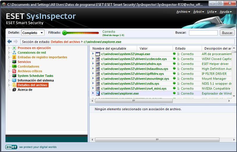 Tutorial de análisis del PC con SysInspector de ESET Eset9