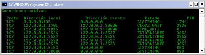 Tutorial de análisis del PC con SysInspector de ESET Netstat