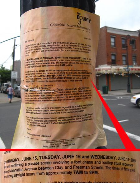 Filming to begin for Bounty Hunter June 15, 2009 in Brooklyn Bounty8