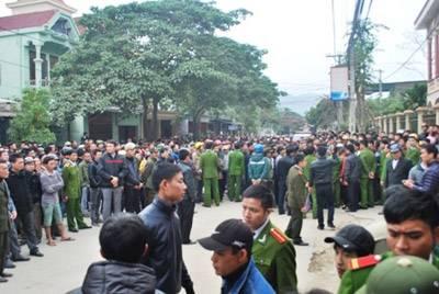 Biểu tình ở Nghệ An vì công an đánh chết người  027