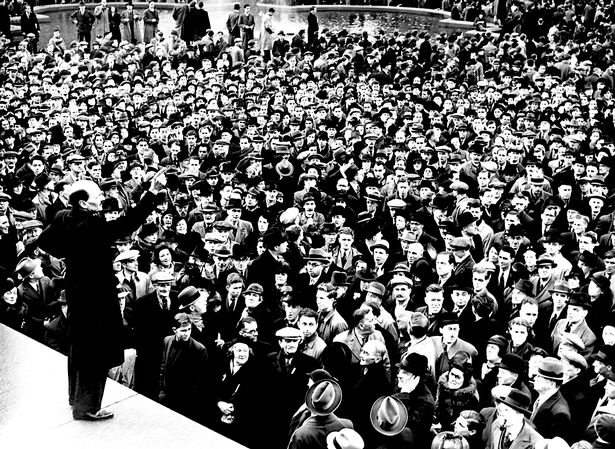 IS Jeremy Corbyn the most popular Labour leader ever? Labour-leader-Clement-Atlee-addressing-a-large-crowd-following-his-poll-success