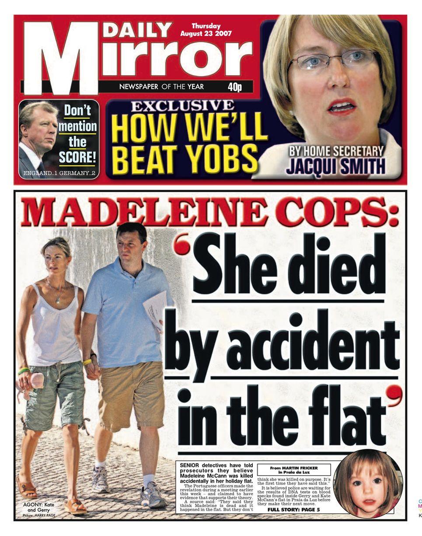 Kate McCann's torment that Madeleine won't be starting ''big school'' next week  DMir_2007_08_23_001