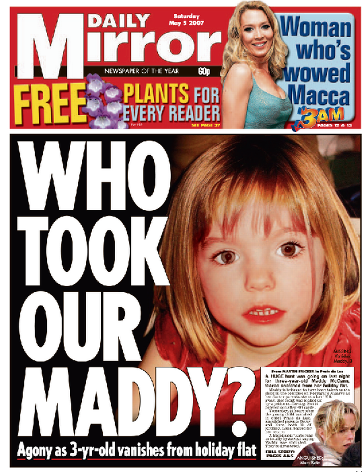 Kate McCann's torment that Madeleine won't be starting ''big school'' next week  First-Maddy-front-page