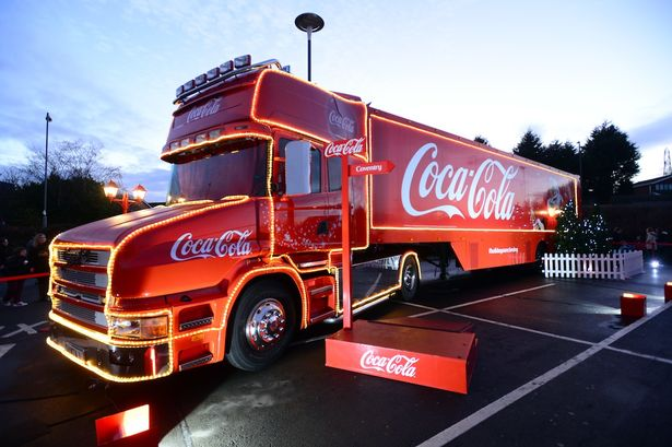 CHRISTMAS ADS FOR 2016 The-Coca-Cola-truck