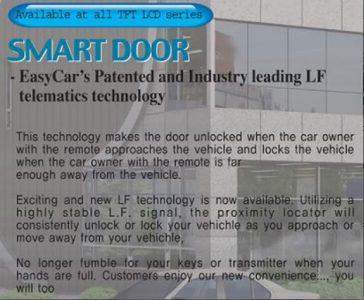 Customised 3M/AAA/Duo colour Carmat/Custom Fit Sunshade/Keyless/Reverse Parking/HID - Page 2 Smart_Door