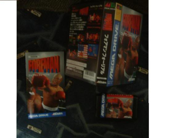 liste et photos des jeux rares,cher ou chiant à trouver sur megadrive Foreman