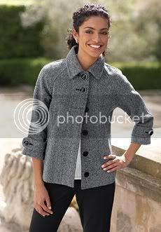 Short Tweed 3/4-Sleeve Coat $44.99 + 15% off  Reg. $160.99, Metallic Cardigan $16.99 + 15% off  Reg. $49.99 - Chadwicks 2101_70739_mm