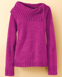 Crinkled silk cascade top $4.99  Reg. $29 + 20% off , Chenille tunic sweater $14.99  Reg. $29 + 20% off - Newport News F0798135_Q107_001