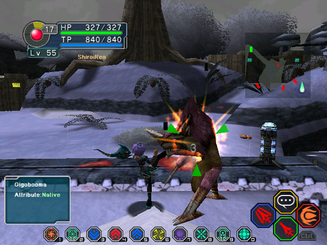"""The """"do NOT!""""'s of Phantasy Star (and Monster Hunter) PSOBB-unarmedfights_oops-kick"""