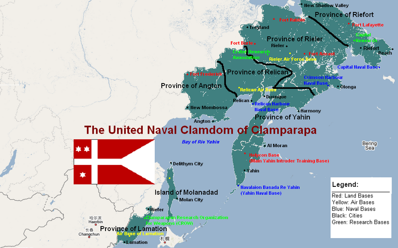 The United Naval Clamdom of Clamparapa Factfile Part 1 Clamparapanmap