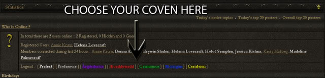 How to select your coven STEPONE