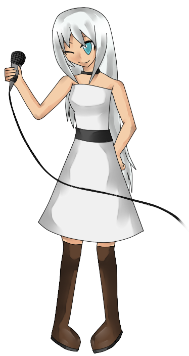 I'll commission someone to draw official boxart for my UTAU. Hana