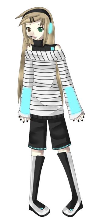 "Hikari Tsutano Alternate ""Vocaloidy"" Outfit Hikarialt"