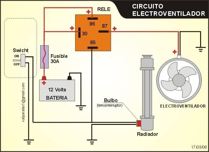 RADIADOR PARA EL BUGGY Circuitoelectroventilador2