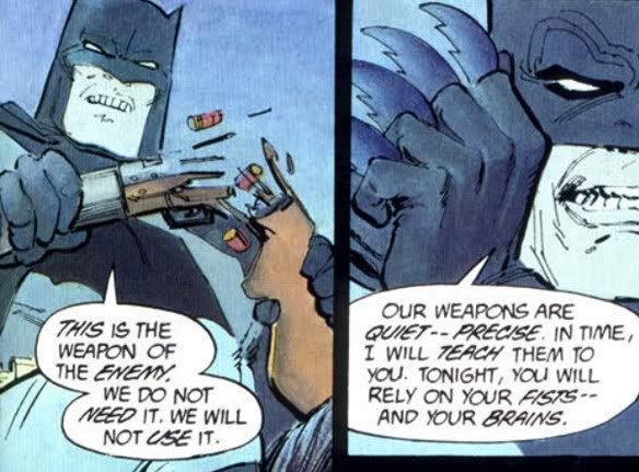 Batman does not use guns. Guns01