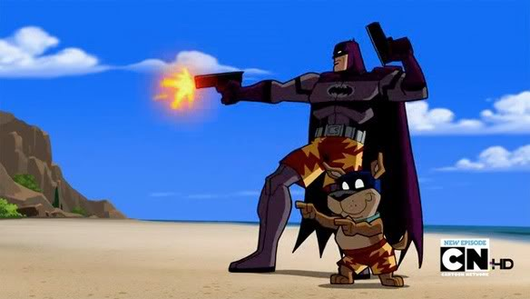 Batman does not use guns. Guns06