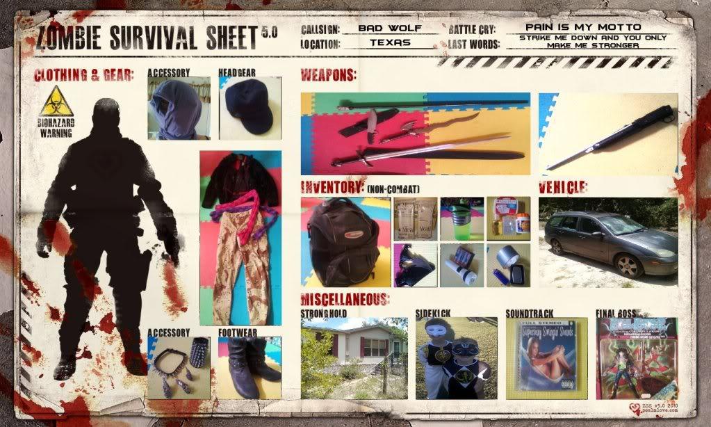 Zombie survival kit Zombiekit-bdwlf