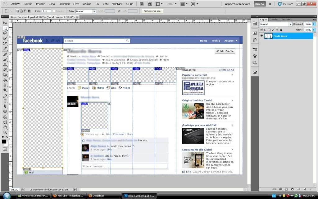 Tutorial cambio de perfil facebook con photoshop 1